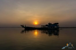 Sunset Ayarwaddy river